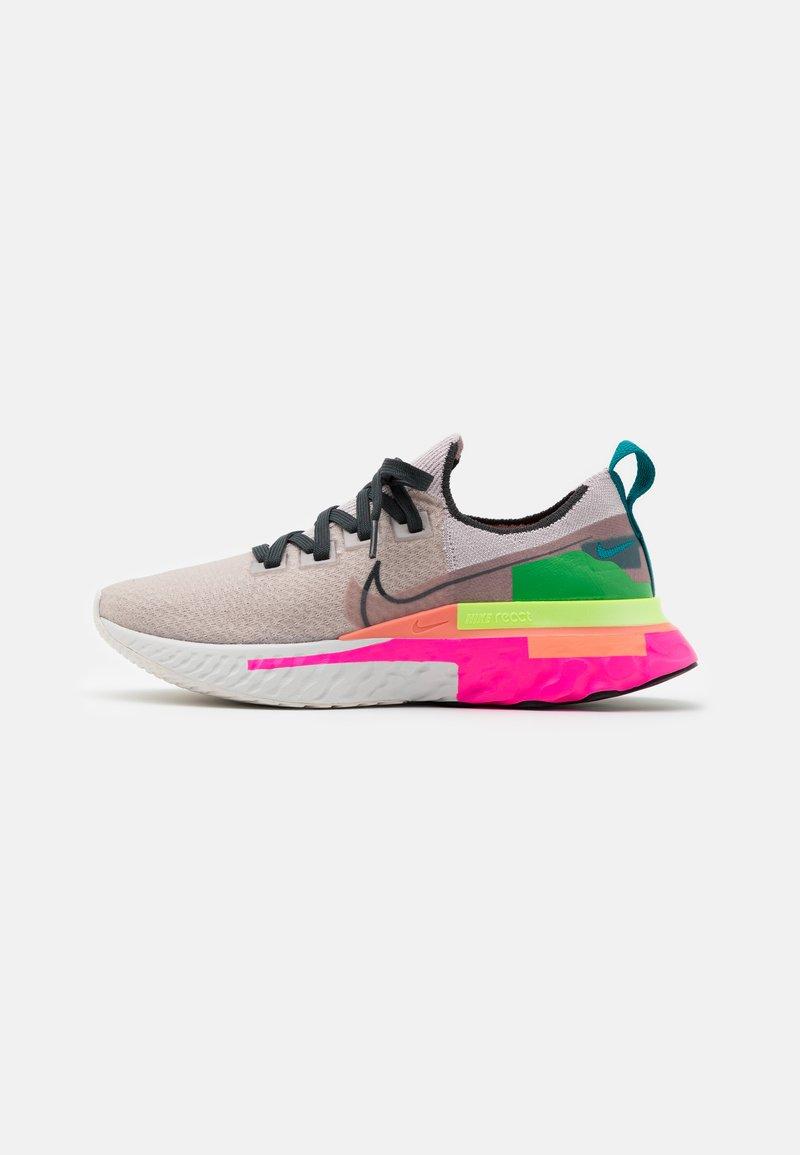 Nike Performance - REACT INFINITY RUN FK PRM - Neutral running shoes - violet ash/dark smoke grey/pink blast