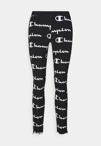 7/8 LEGGINGS - Leggings - black/white