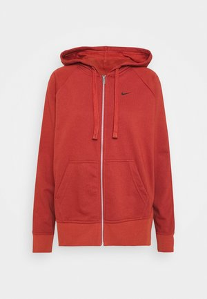 DRY GET FIT - Zip-up hoodie - firewood orange