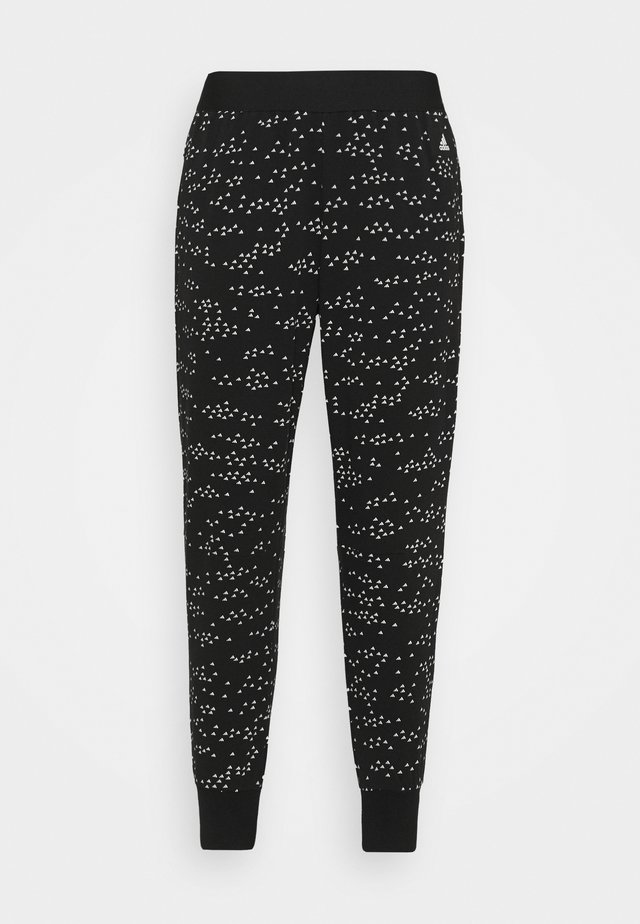 WIN PANT - Tracksuit bottoms - black/white