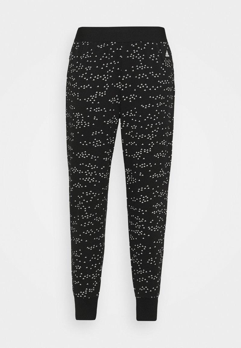 adidas Performance - WIN PANT - Tracksuit bottoms - black/white