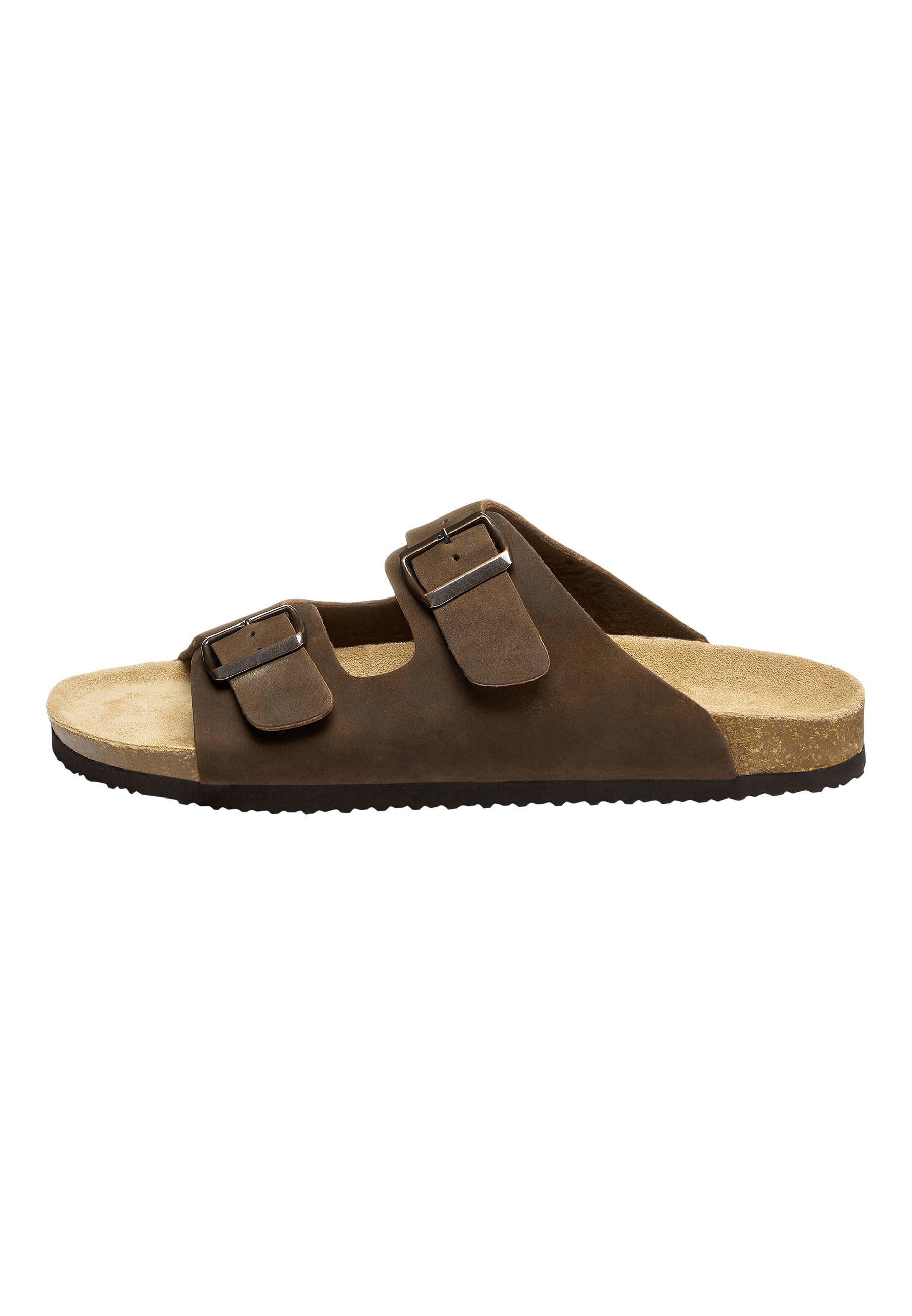 Uomo BROWN TWO BUCKLE SANDAL - Pantofole