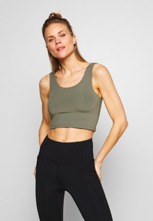 LIFESTYLE SCOOP BACK VESTLETTE - Topper - khaki