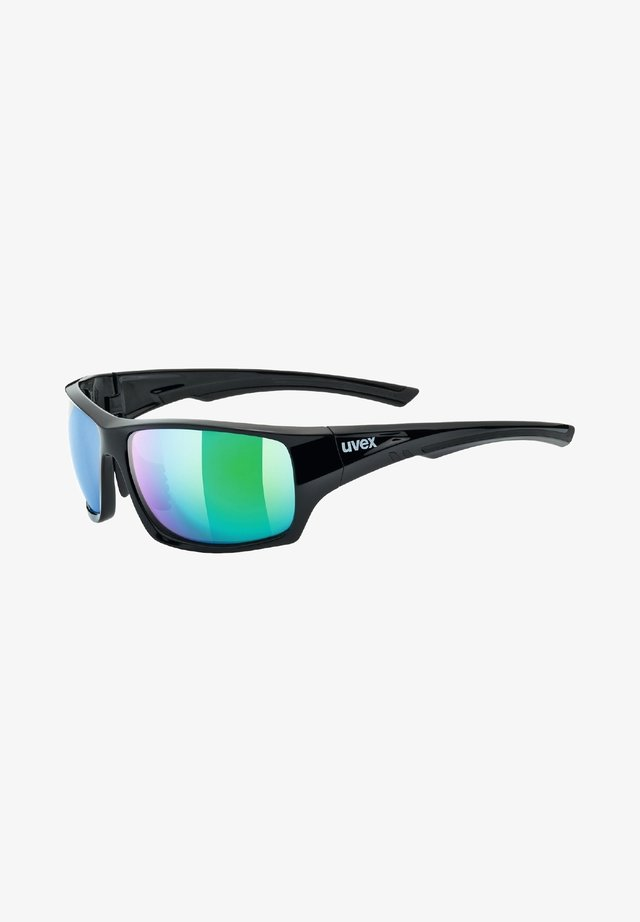 pola - Sports glasses - black/green