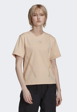 TRAINING WORKOUT AEROREADY  - Print T-shirt - beige