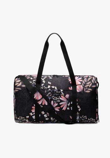 Borsa da viaggio - black floral