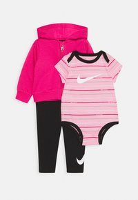 Nike Sportswear - STRIPE BODYSUIT SET - Body - black/light pínk - 0
