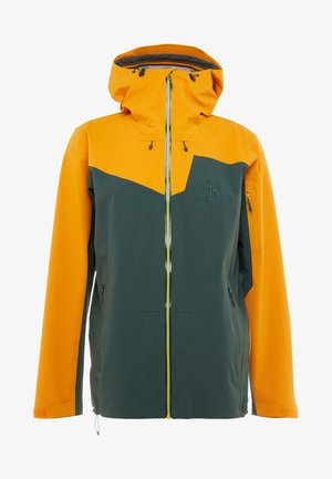 STIPE JACKET MEN - Giacca da snowboard - mineral/desert yellow