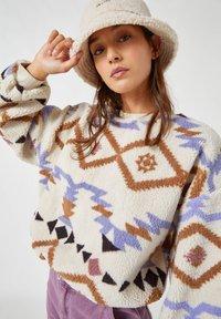 PULL&BEAR - Fleece jumper - white - 3