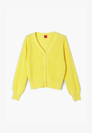 MIT RIPPSTRUKTUR - Vest - light yellow