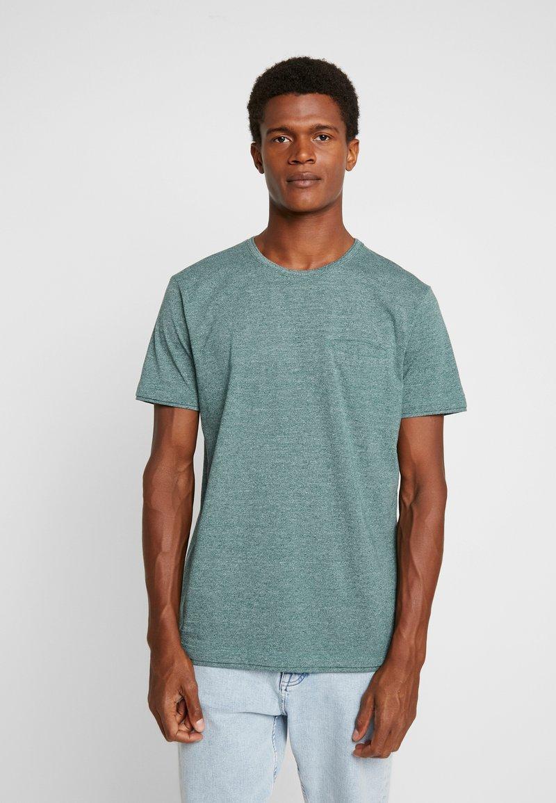 Esprit - PEACH GRINDL  - Basic T-shirt - dusty green