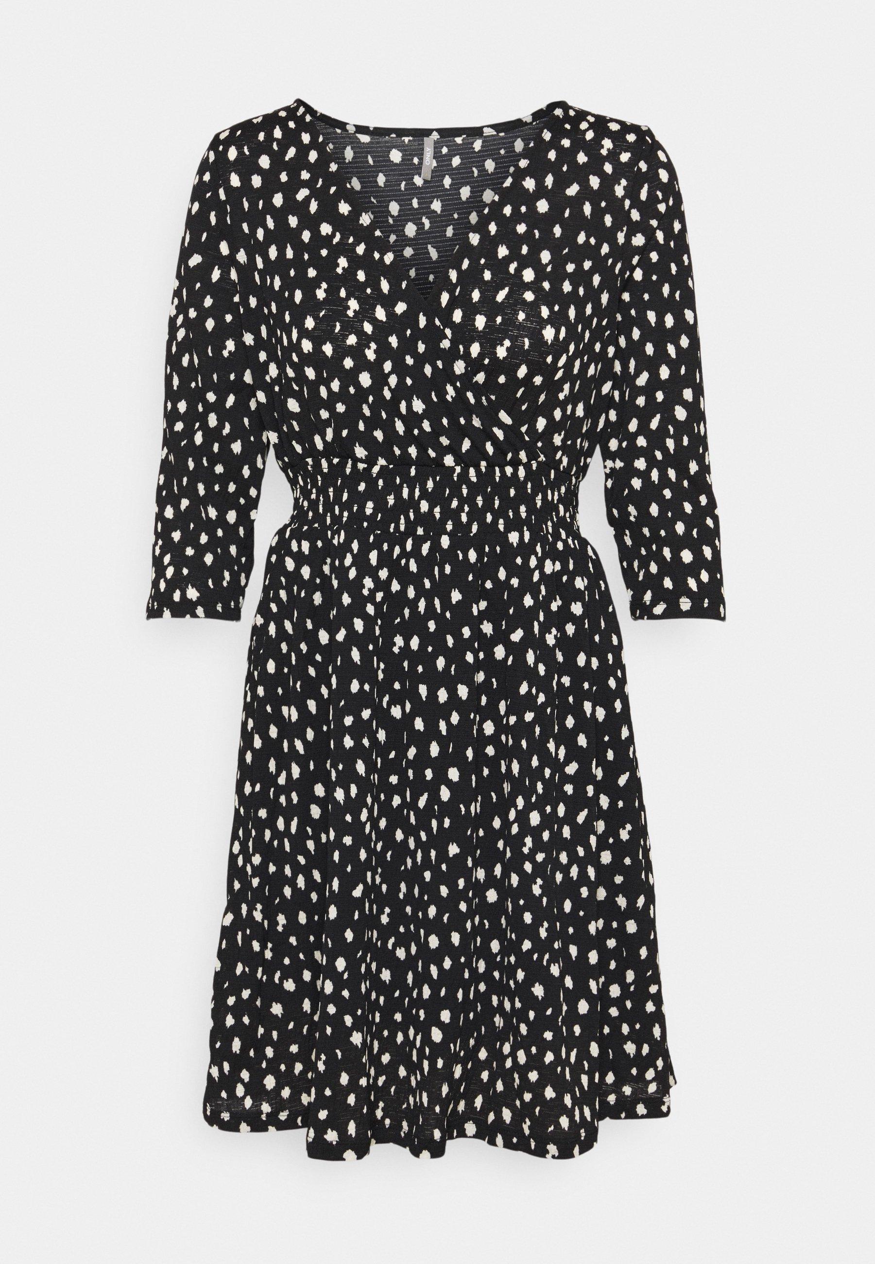 Damen ONLPELLA 3/4 WRAP SHORT DRESS - Jerseykleid