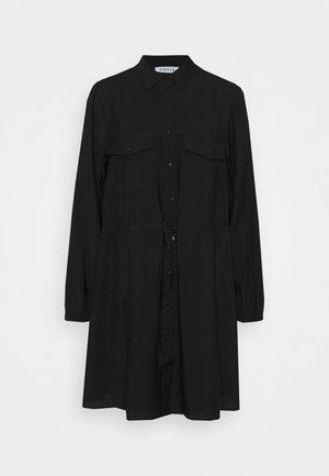 DRESS - Shirt dress - schwarz