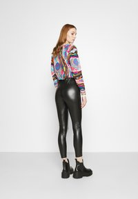 Even&Odd - HIGH WAIST WITH SEAM DETAIL - Trousers - black - 2