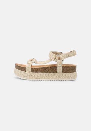 ALIGOLITH - Sandály na platformě - natural