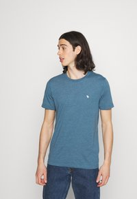 Abercrombie & Fitch - NEUTRAL CREW MULTI 5 PACK - T-shirt basic - white/yellow/green/blue/black - 1