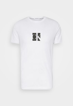 SMALL CENTER BOX TEE - Print T-shirt - bright white
