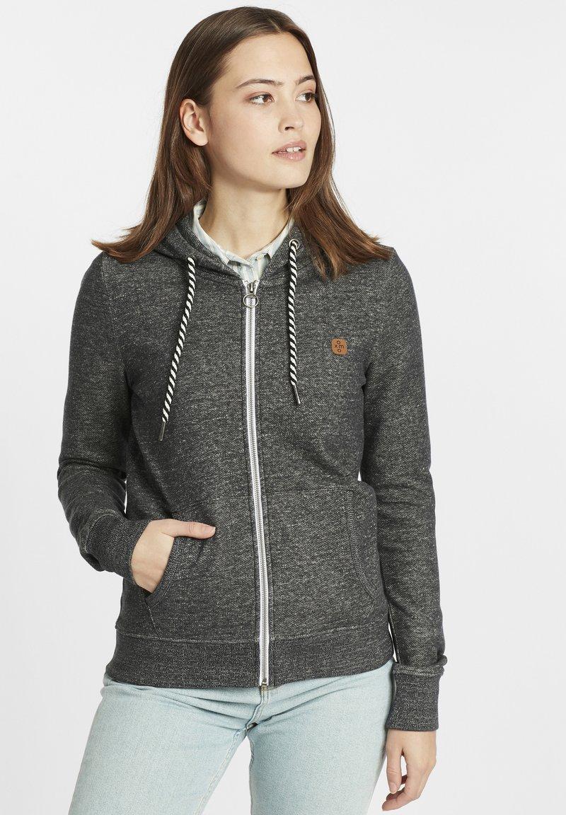 Oxmo - CELIA - Zip-up sweatshirt - black