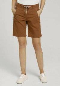 TOM TAILOR - Shorts - caramel brown - 0
