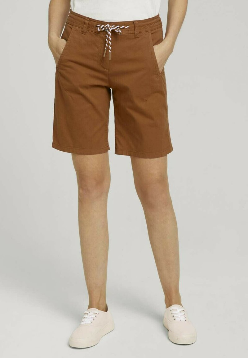 TOM TAILOR - Shorts - caramel brown