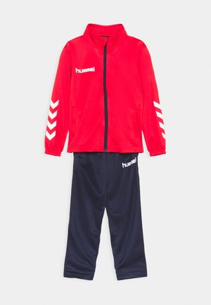 PROMO KIDS SUIT UNISEX - Tracksuit - true red/marine