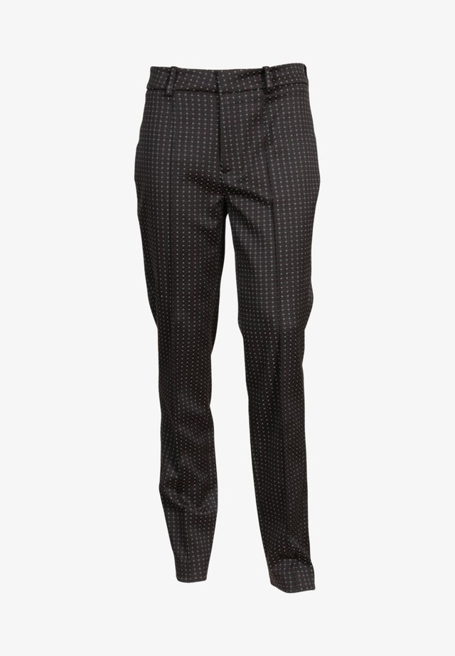 MIT WEBMUSTER - Trousers - red/dark grey