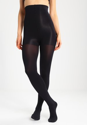 140 DEN HI WAIST SLIM - Tights - black