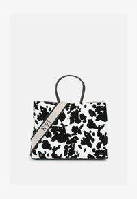 SHOPPING BAG ORIZZONTALE - Handbag - black/white