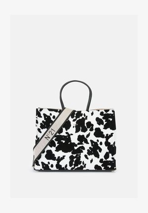 SHOPPING BAG ORIZZONTALE - Sac à main - black/white
