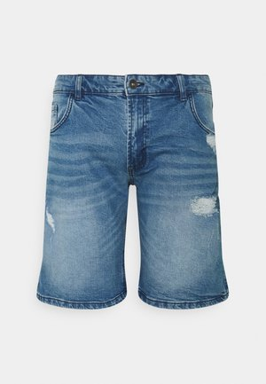OLSSON DESTROY  - Denim shorts - soft blue