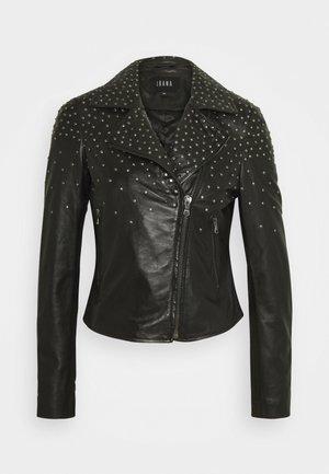 BRENN - Leather jacket - black