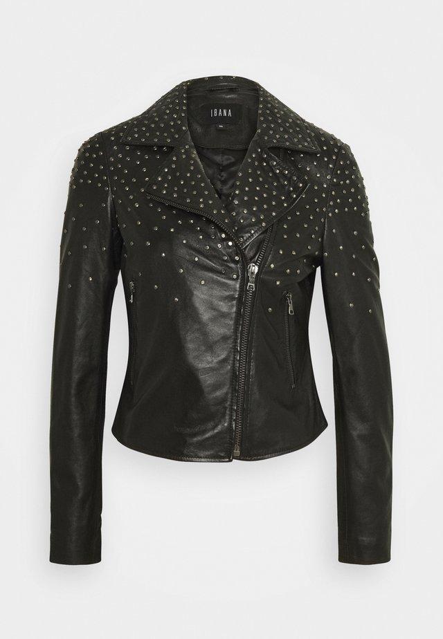 BRENN - Leren jas - black