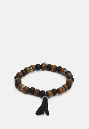 BRACELET WITH TASSEL - Rannekoru - brown