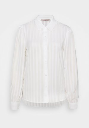 Semi sheer blouse - Button-down blouse - white