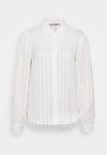 Semi sheer blouse - Chemisier - white
