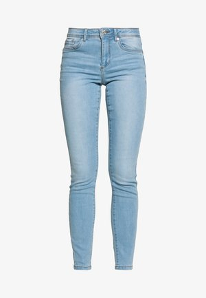 VMTANYA PIPING - Jeans slim fit - light blue denim
