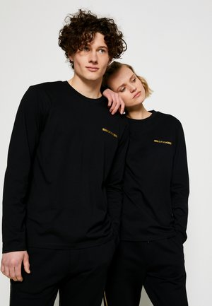 DEROL METALLIC UNISEX - Long sleeved top - black/gold