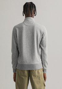 GANT - Zip-up hoodie - grey melange - 2
