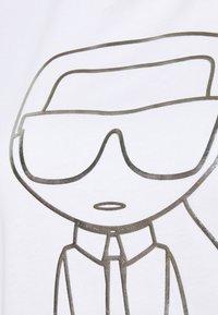 KARL LAGERFELD - IKONIK OUTLINE  - T-Shirt print - white - 6