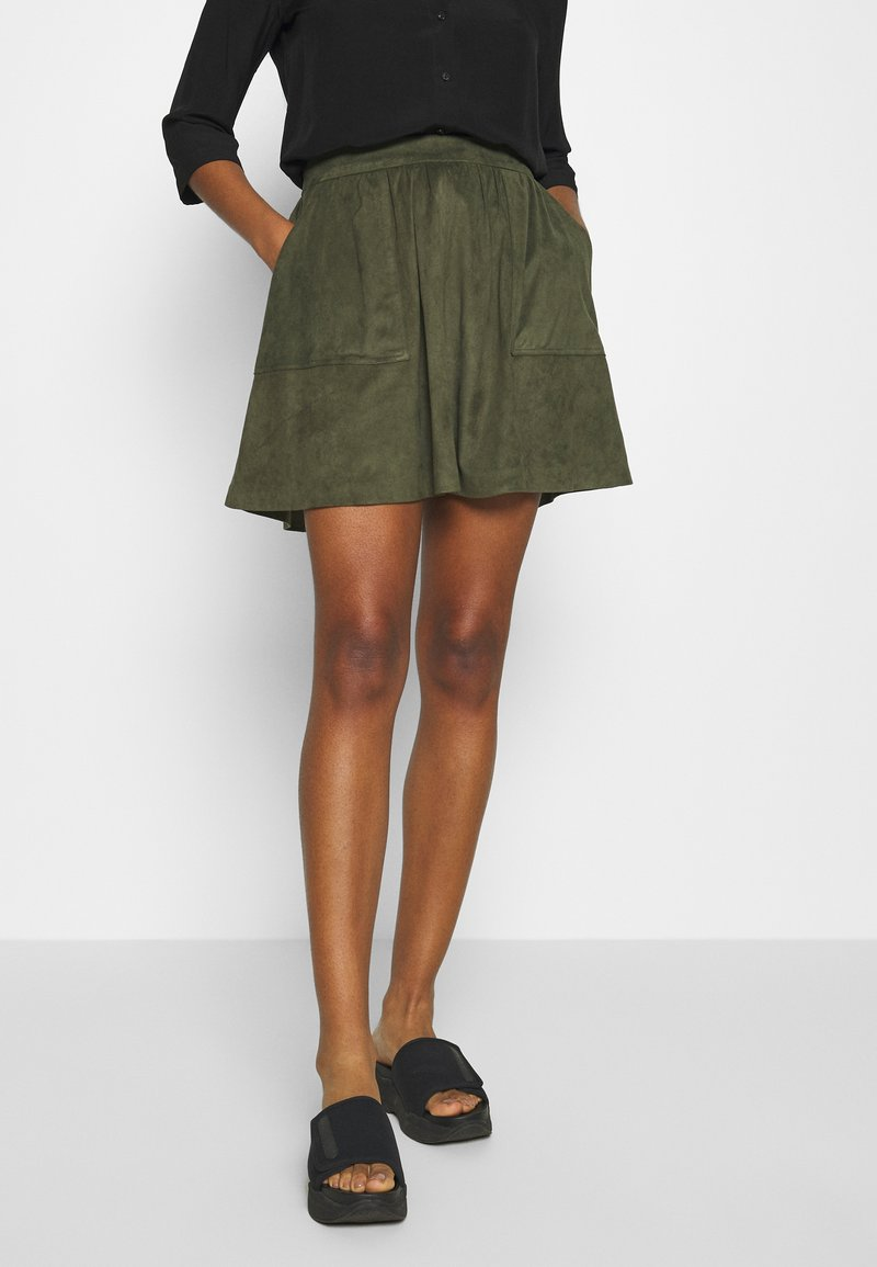Vila - VICHOOSE  - A-line skirt - forest night