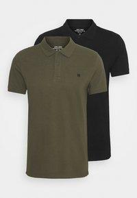 Jack & Jones PREMIUM - JPRBLUSTAR 2 PACK - Polo shirt - black - 0