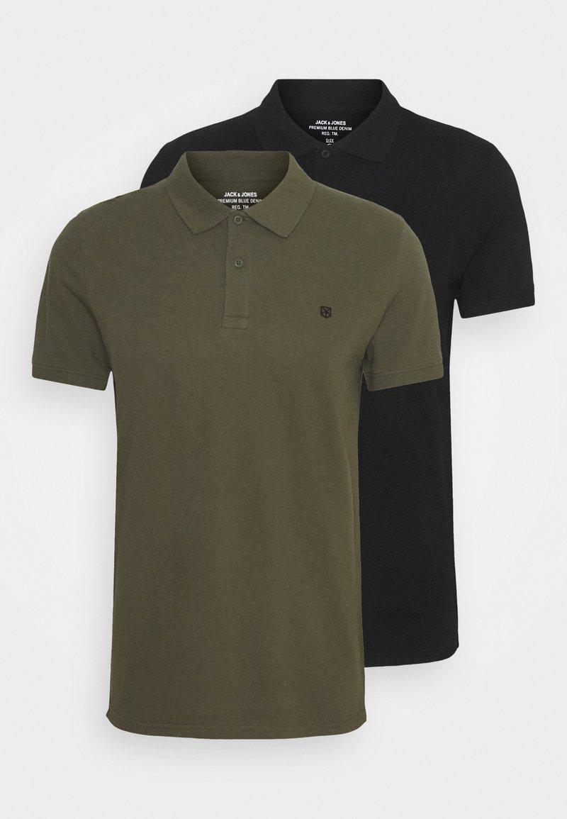 Jack & Jones PREMIUM - JPRBLUSTAR 2 PACK - Polo shirt - black