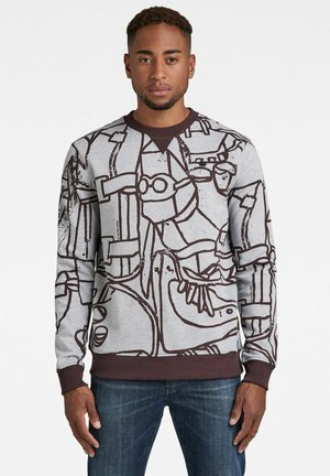 ART SPLATTER R S - Sweatshirt - grey htr line art
