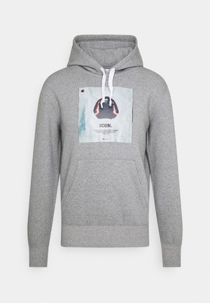 GRAPHIC SHOP HOODED - Sweatshirt - mottled grey