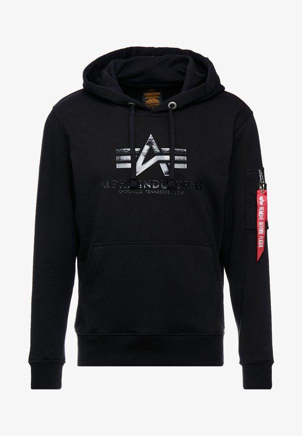 Alpha Industries Bluza z kapturem - black/czarny Odzież Męska KDVN
