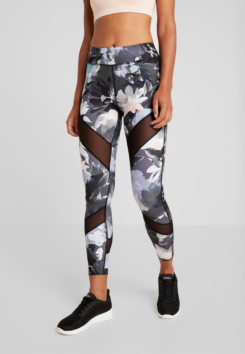 Even&Odd active - Leggings - black/multicoloured