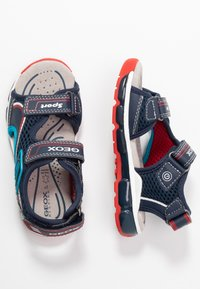 Geox - BOY - Walking sandals - navy/red - 0
