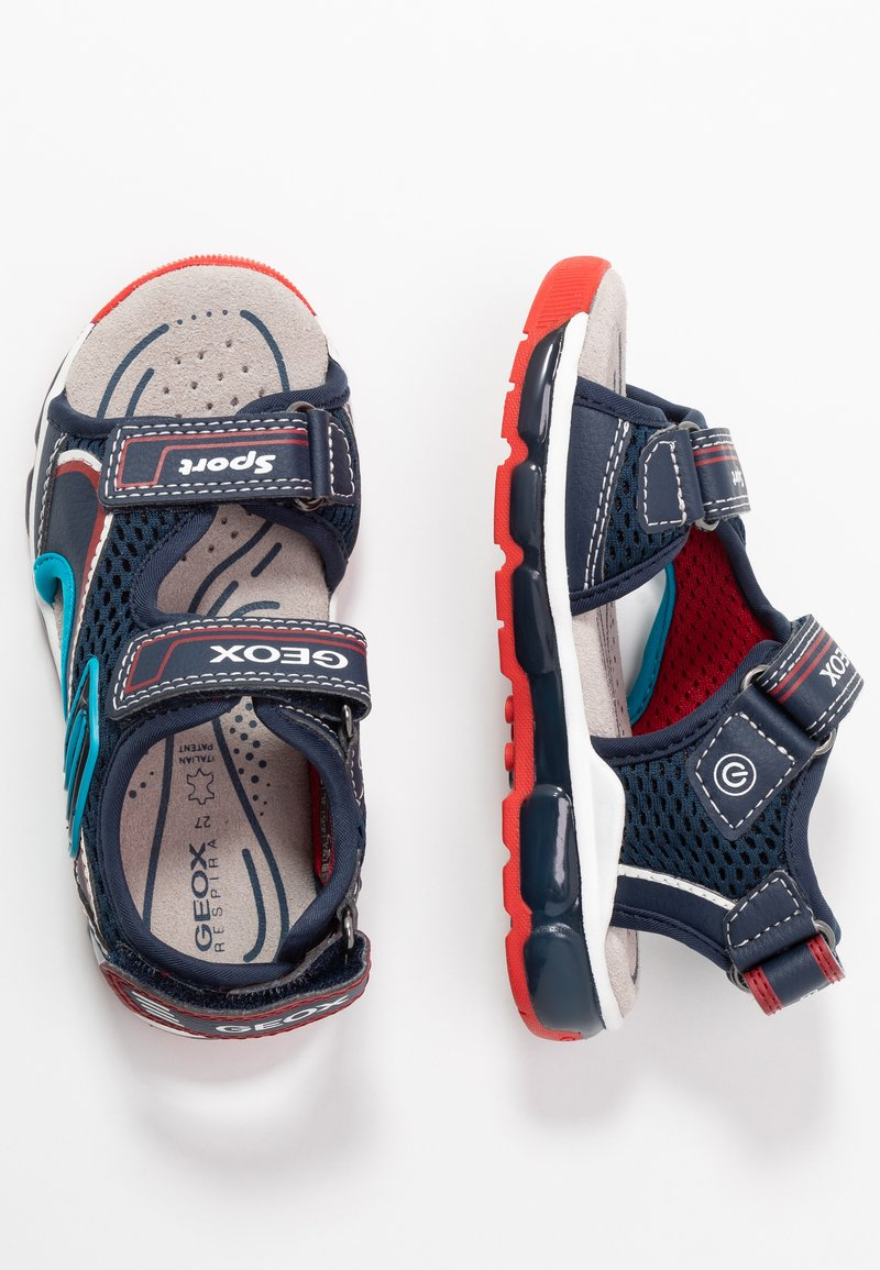 Geox - BOY - Walking sandals - navy/red