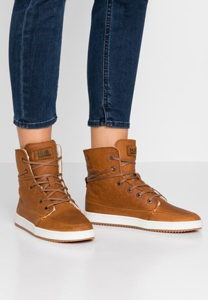 CHESS  - Zapatillas altas - cognac/offwhite