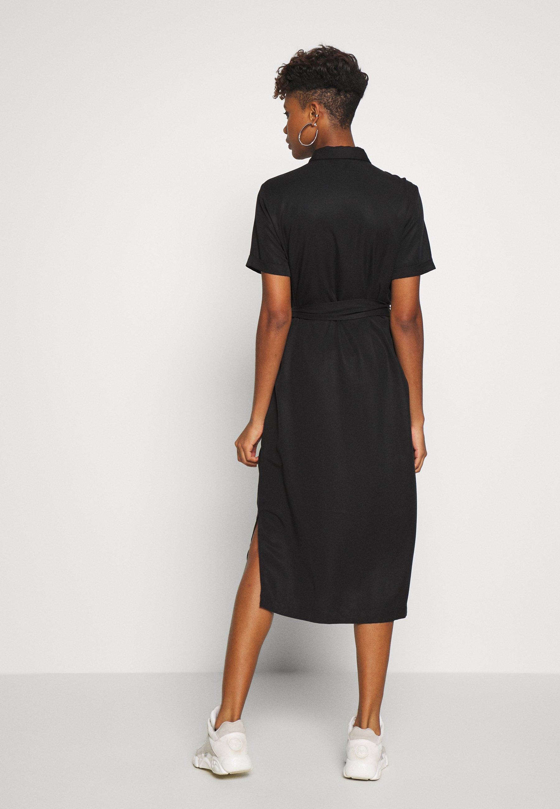 Object OBJTILDA ISABELLA S/S DRESS NOOS - Skjortekjole - black